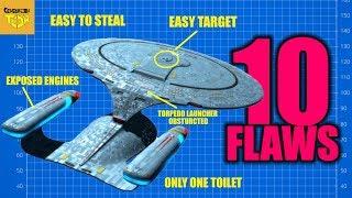 10 Flaws Star Trek - USS Enterprise NCC 1701-D