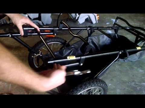 Unfolding triplet stroller
