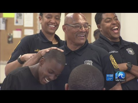 Norfolk Police speak with local youth about National Police Week