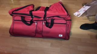 Reisetasche mit Trolleyfunktion 160L deuba Sporttasche unboxing und Anleitung