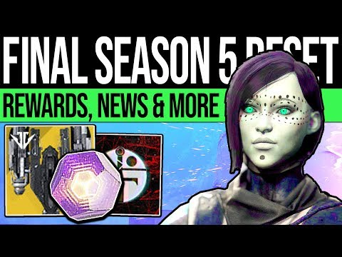Destiny 2 | SEASON 5 ENDS & RESET NEWS! Triple Infamy, Rewards, Nightfalls & Eververse (26th Feb)