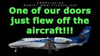 """[REAL ATC] """"Our door FLEW OFF the aircraft!!!"""" @SFO"""