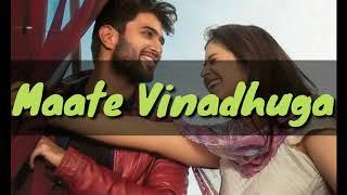 Maate Vinadhuga full song lyrics with English translation  Sid Sriram   Taxiwala   Vijay Devarakonda