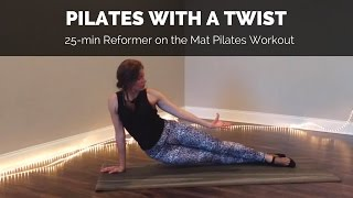 Pilates Reformer on the Mat Workout - 25 min Full Body Int/Adv Workout by Anastasiya Goers