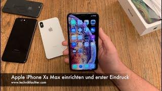 Apple iPhone Xs Max einrichten und erster Eindruck - dooclip.me