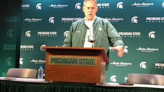 Mark Dantonio on Brian Lewerke's spring game performance