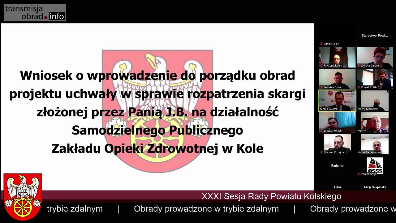 Zdjęcie do XXXIII sesja Rady Powiatu Kolskiego