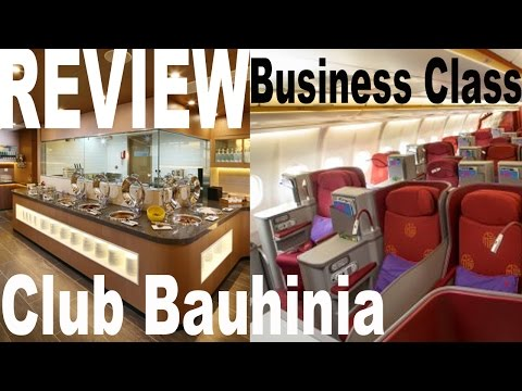 Business Class Lounge and seats review Hong Kong airlines