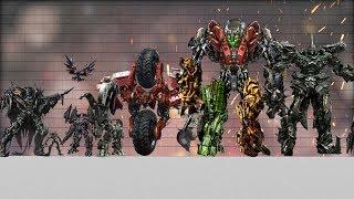 Transformers Size Comparison (in film series)