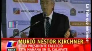 Murió Néstor Kirchner TV