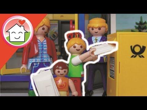 Playmobil Film deutsch Kindergrten besucht die Post - Familie Hauser Kinder Spielzeug Filme