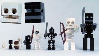 How To Build LEGO Minecraft Skeleton & Wither Skeleton