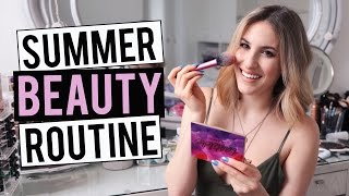 SUMMER BEAUTY ROUTINE 2016  My Everyday Makeup Hair And Skincare  JamiePaigeBeauty