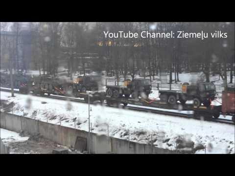 Aculiecinieka video: Latvijā ieved iespaidīgu armijas tehniku!