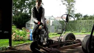 preview picture of video 'homemade tractor start'
