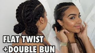 Gambar cover FOR WORK + SCHOOL + GYM Flat Twists with Bun Hairstyle!