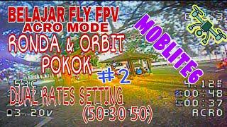 Berlatih Fly Acro Mode - Ronda2 & ORBIT Pokok | Dual Rates | Low Rates | 50 30 50 | #2 |