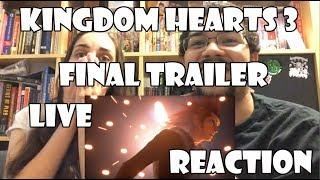 Kingdom Hearts 3 Final Battle Trailer Live Reaction & Announcement