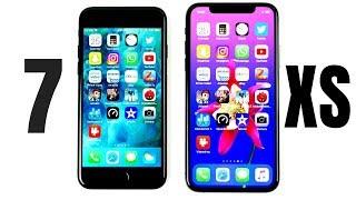 iPhone 7 vs iPhone XS Speed Test!