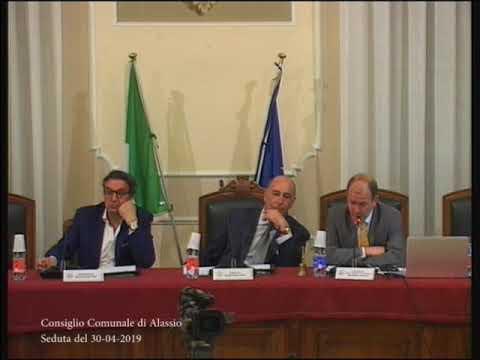 IL CONSIGLIO COMUNALE DI ALASSIO DI MARTEDI' 30 APRILE 2019