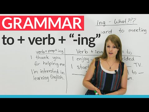 "Engligh Grammar: How to use ""to"" before an ""-ing"" verb"