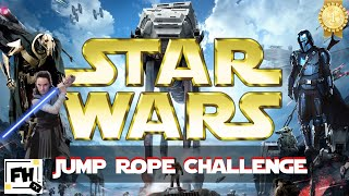 Star Wars Jedi Jump Rope Fitness Cardio Training   Kids/ Family Workout Ft. TeachPhysEd Ben Pirillo