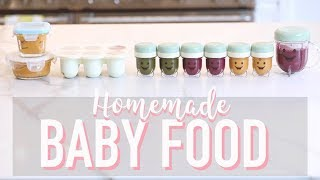 HOW TO MAKE BABY FOOD: HOMEMADE PUREES | Angela Lanter