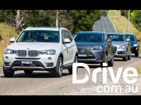 Lexus NX300h v Audi Q5 v BMW X3 v Volvo XC60