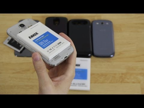Samsung Galaxy S3 (7200mAh) and Galaxy S4 (7800mAh) Anker Extended Battery Unboxing!