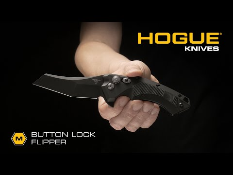 "Hogue Knives X-5 Spear Point Flipper Knife Black G-Mascus (3.5"" Black) 34579"