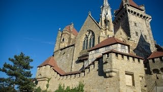 preview picture of video 'Замок Кройценштайн,Корнойбург-Burg Kreuzenstein,Korneuburg'