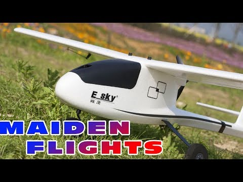 Maiden flight(s) review of the Esky Eagle 1100mm airplane :)