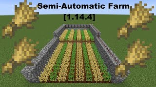 how to make an auto wheat farm in minecraft 1 14 - TH-Clip