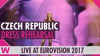 """Czech Republic: Martina Barta """"My Turn"""" semi-final 1 dress rehearsal @ Eurovision 2017"""