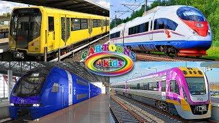 Изучаем цвета и поезда . Тесты для детей. Что лишнее?