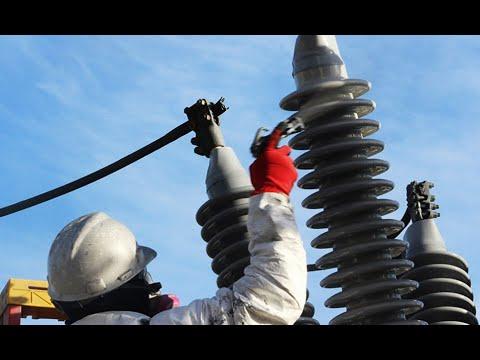 Arc électrique et explosion d'isolateurs haute tension Midsun HVIC peinture silicone autonettoyante
