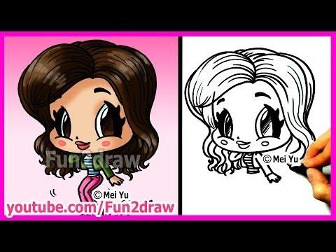 How to Draw Cartoons - Zendaya Coleman - Fun2draw people drawing