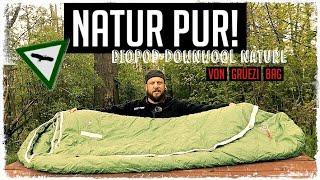 Grüezi Bag Biopod Downwool Nature Schlafsack | No Plastic! | Naturmaterialien !