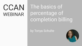 The Basics of Percentage of Completion Accounting