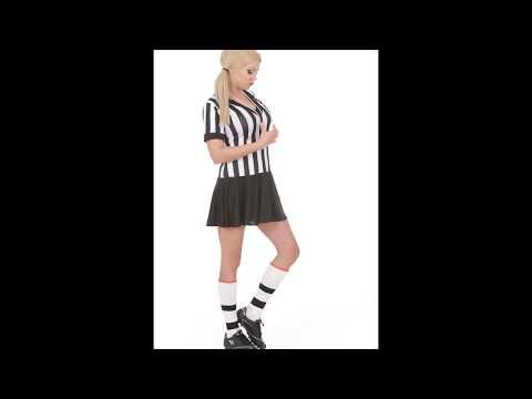 Disfraz de árbitro para mujer.