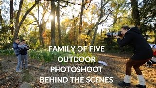 Family Of FIVE Outdoor Photosession, Golden Hour Photoshoot Family Portrait Photography