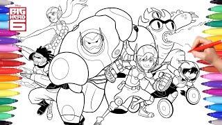 Disney Big Hero 6 Cartoon Coloring Pages 2