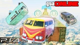 GTA 5 Online (PS4) - Летающие Фургоны! #103