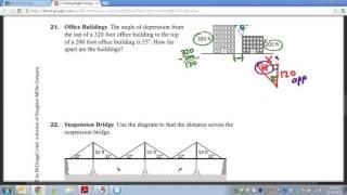 Common Core Math: Right Triangle Trigonometry Real Life Example 2