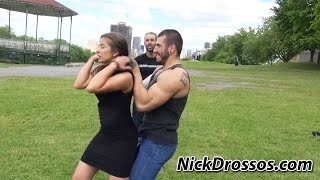 Defense against a Choke from Behind - Women Self Defense