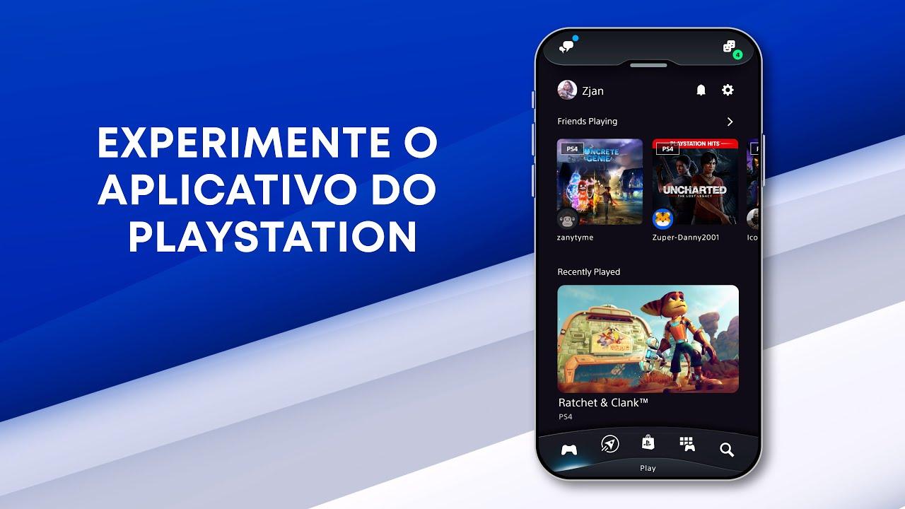 Conheça o novo PlayStation App, recriado para levar suas experiências no PS4 e PS5 a um outro nível