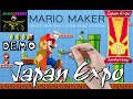 [JAPAN EXPO 2014] Demonstration de Mario Maker sur Wii U