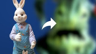 Turning a Bunny into a MONSTER Plant with Polymer Clay - Thrift Store Transformation E06