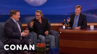 Kurt Russell Teaches Conan & Andy About Wine  - CONAN on TBS