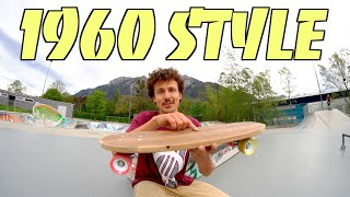 REBUILDING A SKATEBOARD FROM 1960 AND TRYING TO SKATE IT!